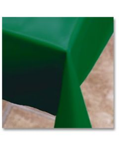 """Hoffmaster 112005 54"""" x 108"""" Hunter Green Plastic Table Cover"""