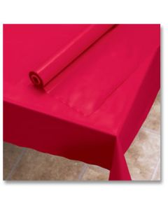 """Hoffmaster 113001 40"""" x 100' Red Plastic Table Cover Roll"""