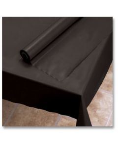 """Hoffmaster 113003 40"""" x 100' Black Plastic Table Cover Roll"""