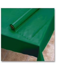 """Hoffmaster 113005 40"""" x 100' Hunter Green Plastic Table Cover Roll"""