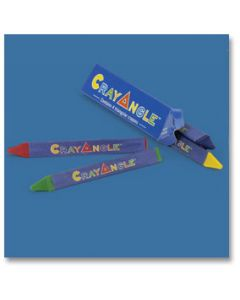Hoffmaster 120800 CrayAngle Triangular Crayons-4 colors per box