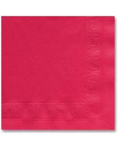 Hoffmaster 180311 Red Beverage Cocktail Napkin - 2 Ply
