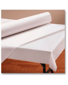 """Hoffmaster 260045 40"""" x 300' Bright White Paper Table Cover Roll"""