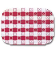 Hoffmaster 309000 Red Gingham Paper Placemat