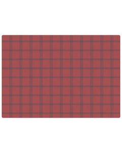Hoffmaster 311163 Linen Embossed Cranberry Plaid Placemats