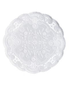 """Hoffmaster 500530 4"""" French Lace Paper Doilies"""