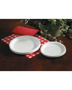 """Hoffmaster PL7095 9"""" White Paper Plates"""