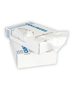 Heritage Bag D4823RC Clear Low Density Can Liners - 8-10 Gallons