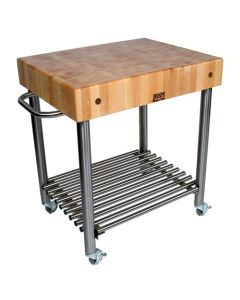 "John Boos Cucina D'Amico Maple Cart, 30"" x 24"""