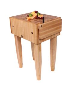 "John Boos PCA3 Pro Chef 10""D Maple Butcher Block w /Knife Holder"