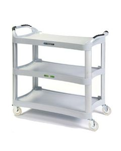 Lakeside 2510 Light Gray 3 Shelf Utility Cart