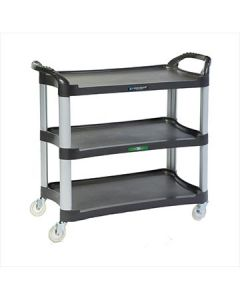 Lakeside 2512 Charcoal 3 Shelf Utility Cart, 500 lb Capacity
