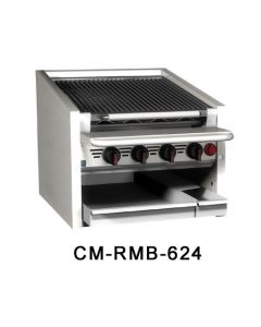 "MagiKitch'n CM-RBM-636 36"" Gas Charbroiler - Stainless Steel Radiants"