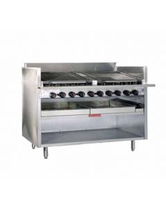 "MagiKitch'n FM-RMB-648 48"" Gas Charbroiler - Stainless Steel Radiants"