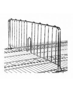 "Metro DD24C 24"" Chrome Shelf Divider"