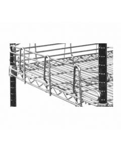 "Metro L18N-4C Chrome Super Erecta Shelf Ledge, 4"" x 18"""