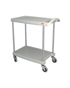 "Metro MY1627-24G myCart 18"" x 32"" Gray Two-Shelf Utility Cart"