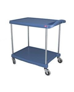 "Metro MY2030-24BU myCart 24"" x 35"" Blue Two-Shelf Utility Cart"