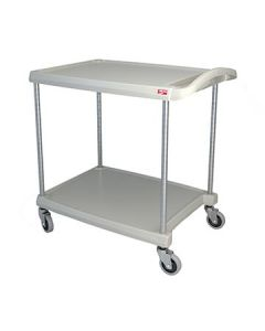 "Metro MY2030-24G myCart 24"" x 35"" Gray Two-Shelf Utility Cart"