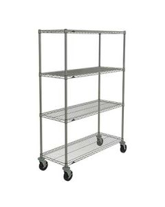 "Metro N356BC Super Erecta Mobile 18"" x 48"" Chrome Shelf Kit"