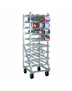 New Age 1250CK Mobile Can Storage Rack - 162 #10 Can Capacity