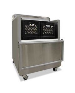 """Nor-Lake AR082SSS/0-A 35"""" Open Front Milk Cooler - Stainless Steel"""