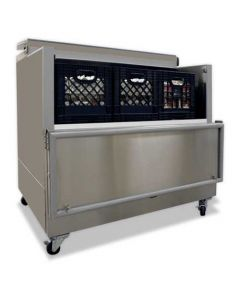 """Nor-Lake AR122SSS/0-A 49"""" Open Front Milk Cooler - Stainless Steel"""
