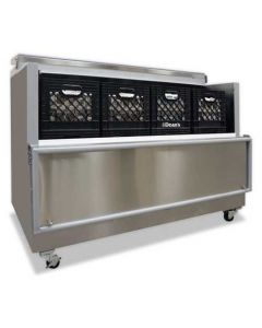 """Nor-Lake AR162SSS/0-A 63"""" Open Front Milk Cooler - Stainless Steel"""