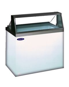 "Nor-Lake 90-3/4"" Ice Cream Dipping/Display Merchandiser, angled glass"