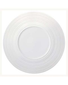 "Oneida L5650000139C Manhattan 9"" White Wide Rim Plate"