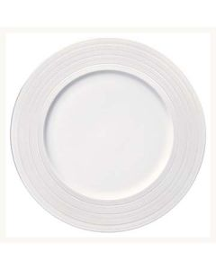 "Oneida L5650000152 Manhattan 10-5/8"" White Medium Rim Plate"