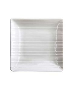 "Oneida L6600000133S Lines 8-1/4"" White Square Plate"
