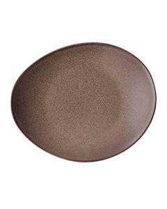 """Oneida L6753059358 Rustic 11-1/2"""" Chestnut Oval Coupe Plate"""