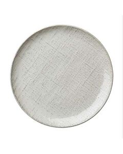 """Oneida L6800000133C Knit White 8-1/4"""" Coupe Plate"""
