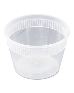 Pactiv YSD2516 DELItainer 16oz Round Clear Takeout Container and Lid Combo
