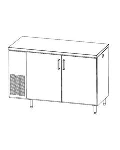 Perlick PS60 Pass-Thru Backbar Storage Cabinet, Two-section