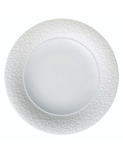"""Oneida ONEIR4920000134 Francia 8 3/8"""" Wide Embossed Bright White Porcelain Plate"""
