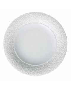 """Oneida ONEIR4920000127 Francia 7 1/4"""" Wide Embossed Bright White Porcelain Plate"""