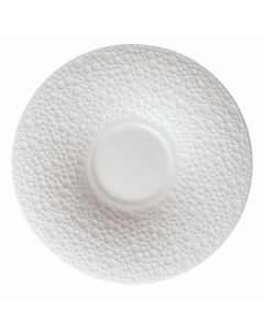 Oneida ONEIR4920000500 Francia 6 1/2 Wide Embossed Bright White Porcelain Saucer