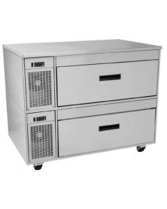 "Randell FX-2WS FX Series 46"" 2-Drawer Refrigerated Prep Table"