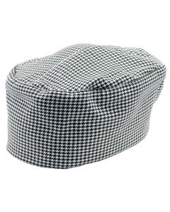 Chef Revival H009-R Hounds-Tooth Pill Box Hat, Regular