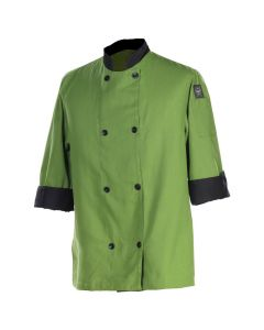 Chef Revival J134MT-XL Basic Chef's Jacket, mint/black trim, XL