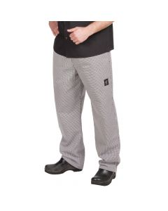 Chef Revival P020HT-3X 24/7 Basic Chef's Pants, Hounds Tooth, 3X