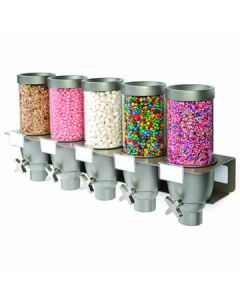 Rosseto EZ534 EZ-SERV 5-Container .65 Gal Wall-Mounted Dry Product Dispenser