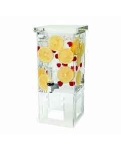 Rosseto LD106 1 Gal Square Clear Acrylic Beverage Dispenser