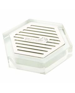 """Rosseto LD107 4"""" x 4"""" Honeycomb Acrylic Drip Tray for Beverage Dispensers"""