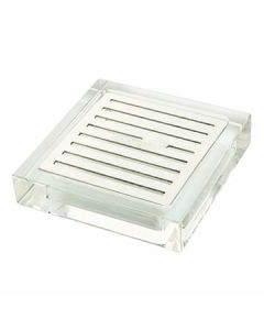 """Rosseto LD108 4.25"""" x 4.25"""" Square Acrylic Drip Tray for Beverage Dispensers"""
