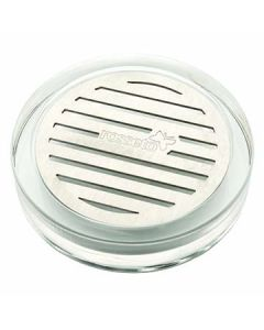 """Rosseto LD127 4.25"""" x 4.25"""" Round Acrylic Drip Tray for Beverage Dispensers"""
