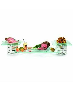 Rosseto SK001 Skycap 5-Piece Stainless Steel Display Riser Set w/Glass Surfaces