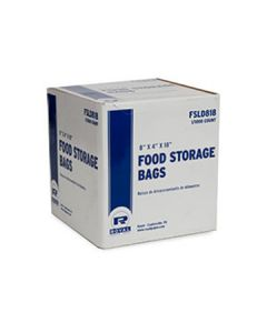 "Royal Paper FSLD818 8"" X 4"" X 18"" Plastic Food Storage Bags"